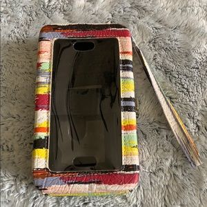 APT. 9 Snap-close cell phone/wallet wristlet